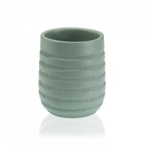 Suport pentru periuta de dinti verde din rasina 8x9 cm Naomi Versa Home