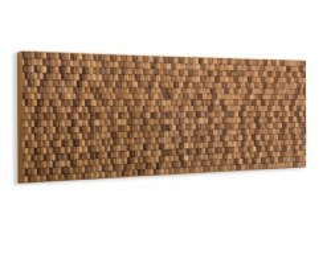 Tablie pat maro din lemn de tec 174 cm Koko Wall La Forma