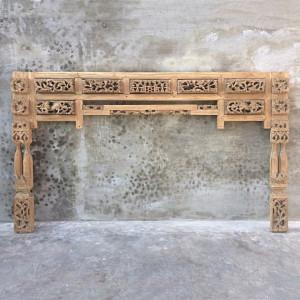 Tablie pat maro din lemn de tec 231 cm Sibrin Denzzo
