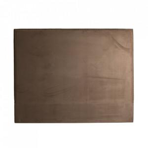 Tablie pat maro din lemn si catifea 190 cm Fulda Vical Home