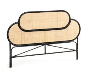 Tablie pat negru/crem din ratan 170 cm Lalita Black La Forma