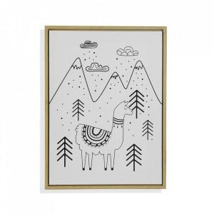 Tablou alb/negru din canvas 30x40 cm Llama Versa Home