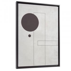 Tablou alb/negru din canvas si MDF 50x70 cm Myrthe Grey Kave Home