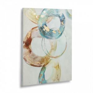 Tablou albastru printat pe panza 70x50 cm Daydream La Forma
