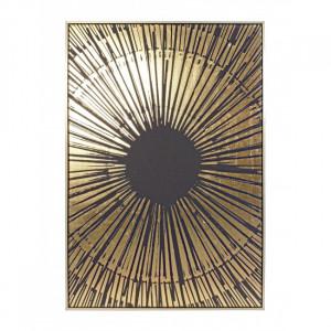 Tablou auriu/negru din MDF si canvas 82x122 cm Bold Bizzotto