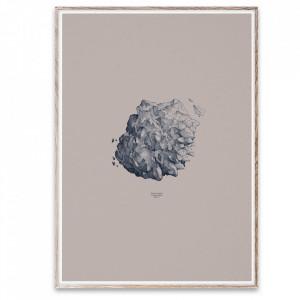 Tablou cu rama din lemn de stejar 50x70 cm Hailstone Everest Grey White Paper Collective