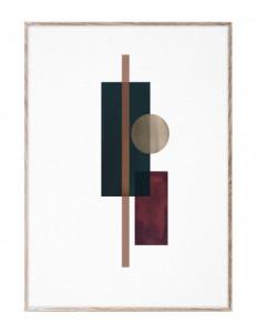 Tablou cu rama din lemn de stejar 50x70 cm Shapes of Colour 03 Paper Collective