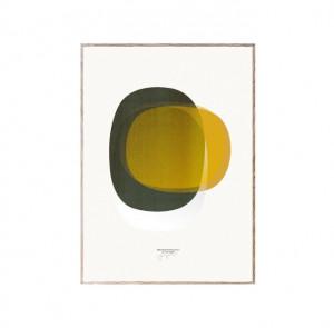 Tablou cu rama din lemn de stejar Sketchbook Abstracts 01 Paper Collective