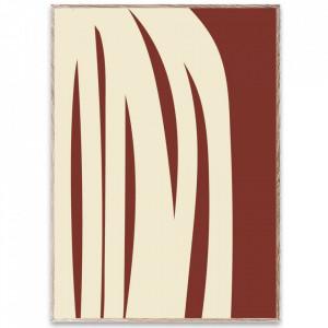 Tablou cu rama din lemn de stejar Stacked Lines 02 Paper Collective