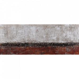 Tablou multicolor din canvas si lemn 60x180 cm Sona Ter Halle
