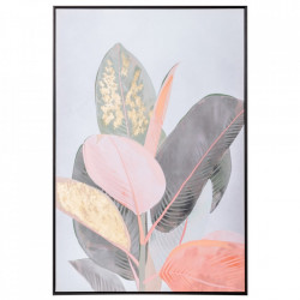 Tablou multicolor din canvas si lemn de pin 82x122 cm Rochelle Ixia
