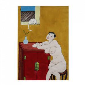 Tablou multicolor din hartie 24x40 cm Femme Versmissen