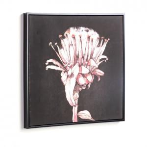 Tablou negru/roz din lemn 60x60 cm Natures Square Kave Home