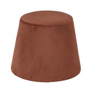 Taburet rotund maro din MDF si poliester 40,5 cm Moha Zago