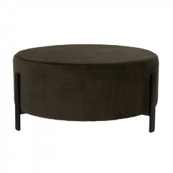 Taburet rotund verde din poliester si placaj 80 cm Easton LifeStyle Home Collection