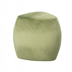 Taburet triunghiular verde din MDF si poliester 47x47 cm Hachi Lifestyle Home Collection