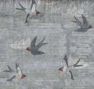 Tapet din hartie cu fibre de nailon Concrete Art Rebel Walls