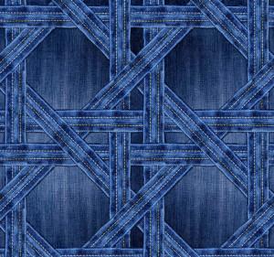 Tapet din hartie cu fibre de nailon Denim Trellis Rebel Walls