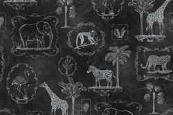 Tapet negru Animal Party Blackboard Rebel Walls