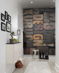 Tapet Woodcut Design Rebel Walls