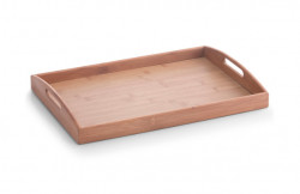 Tava dreptunghiulara maro din lemn 30x44 cm Bamboo Serving Tray Zeller