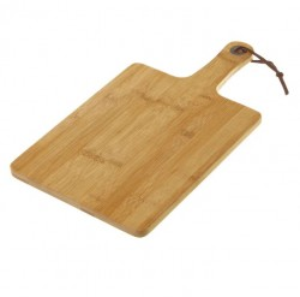 Tocator dreptunghiular maro din lemn de bambus 20x38 cm Adib Unimasa