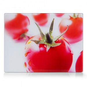 Tocator dreptunghiular multicolor din sticla 30x40 cm Tomato Zeller