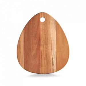 Tocator oval maro din lemn 26x30 cm Karina Zeller