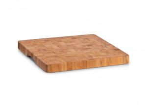 Tocator patrat maro din lemn 30x30 cm Tasteless Board Square Zeller