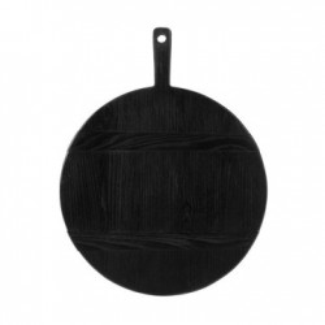 Tocator rotund din lemn negru 35,5 cm Black M HK Living