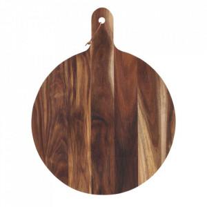 Tocator rotund maro din lemn de salcam 50 cm Akacie House Doctor