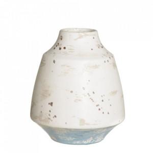 Vaza alba/albastra din ceramica 20,5 cm Kalahari Ixia