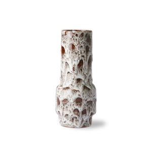 Vaza alba/maro din ceramica 20 cm Lava HK Living