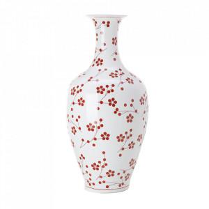 Vaza alba/rosie din portelan 90 cm Japanese Pols Potten