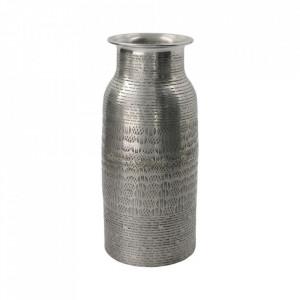Vaza argintie din aluminiu 26 cm Fenja House Doctor