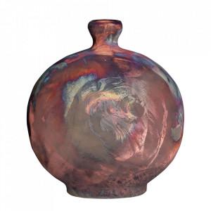 Vaza decorativa aramie din ceramica 24 cm Raku Versmissen
