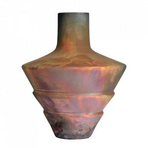 Vaza decorativa aramie din ceramica 27 cm Raku Versmissen