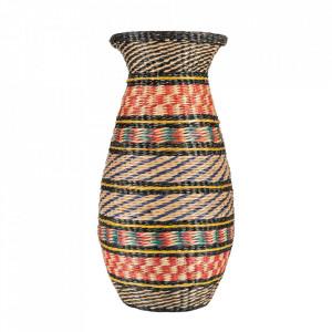 Vaza decorativa multicolora din bambus 43 cm Karina Versmissen