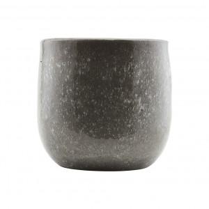 Vaza din ceramica gri 22 cm Earth House Doctor