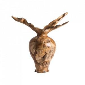 Vaza maro din lemn 70 cm Saud Vical Home