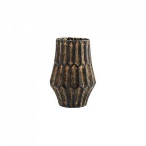 Vaza maro din sticla 18 cm Luce Madam Stoltz