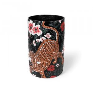 Vaza neagra din rasina 39 cm Songs Of The Night Tiger Bold Monkey