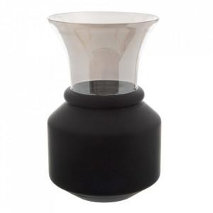 Vaza neagra/gri din sticla 37 cm Grivy Ixia