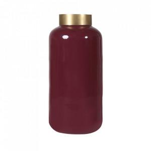 Vaza rosie din fier 41 cm Olia Zago
