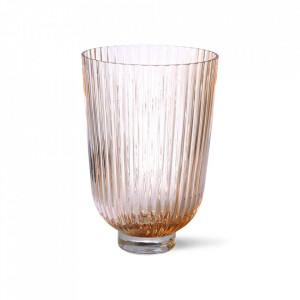 Vaza roz piersica din sticla 27 cm Naila HK Living