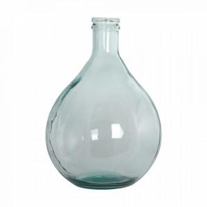 Vaza transparenta din sticla reciclata 43 cm Clear House Doctor