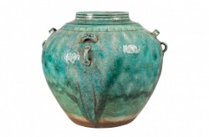 Vaza verde din ceramica Ariel Versmissen