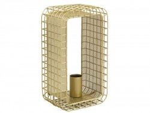 Veioza aurie din aluminiu 30 cm Cage Santiago Pons