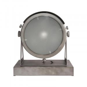 Veioza gri din metal si sticla 31 cm Cap Avi LABEL51