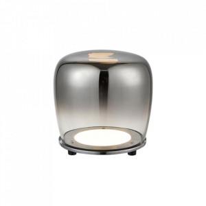 Veioza neagra din sticla cu LED 17 cm Berloz Candellux
